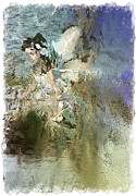 Female Fairy Abstract Posters - Abstracted Water Nymph Poster by Andrew Govan Dantzler