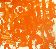 Reprint Art - Abstraction In Orange by Venus