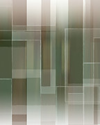 Earth Tone Prints - Abstract_rectangles Print by Michael Huddleston