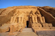 Ancient Ruins Prints - Abu Simbel Print by Dan Breckwoldt