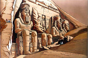 David Reliefs - Abu Simbel Temple Of Ramesses II by Sherif Mohamed