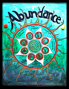 Energy Currency Framed Prints - Abundance Money Magnet - Healing Art Framed Print by Absinthe Art By Michelle LeAnn Scott