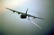 Ac-130 Framed Prints - AC-130 Hercules Framed Print by Amy Denson