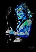 Hall Of Fame Band Posters - AC/DC - Angus Young Poster by Absinthe Art By Michelle LeAnn Scott