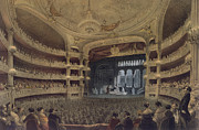 Theater Drawings Metal Prints - Academie Imperiale de Musique Paris Metal Print by Louis Jules Arnout