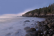 Seacoast Photo Posters - Acadia Morning Mist Poster by Juergen Roth