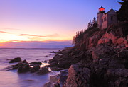 Bass Harbor Lighthouse Posters - Acadia National Park Bass Harbor Lighthouse Poster by John Burk