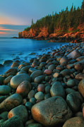 Maine Icons Prints - Acadian Dawn - Otter Cliffs Print by Thomas Schoeller