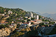 Acapulco Prints - Acapulco Hillside Living Print by Linda Phelps