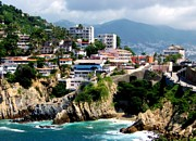 Hillsides Photos - Acapulco by Karen Wiles
