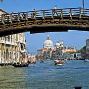 Historic Ship Prints - Accademia Bridge in Venice Italy Print by Heiko Koehrer-Wagner