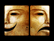 Theater Masks Posters - Accentuate the Positive  Poster by Dan Allison Reid