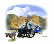 Disability Digital Art Prints - Access to Life Print by Joseph Juvenal