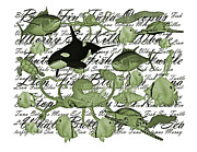 Words Background Prints - Accord Print by Betsy A Cutler East Coast Barrier Islands