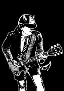 Rock Guitar Prints - ACDC No.03 Print by Caio Caldas