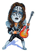 Man Cave Painting Framed Prints - Ace Frehley Framed Print by Art