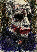Christopher Drawings - ACEO Joker I by Rachel Scott