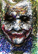 Christopher Drawings - ACEO Joker II by Rachel Scott
