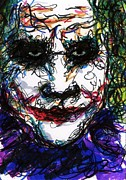 Ledger; Book Originals - ACEO Joker IV by Rachel Scott