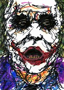 Ledger; Book Posters - ACEO Joker VI Poster by Rachel Scott