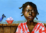 Slavery Painting Prints - ACEO Lost in Thought Print by Jacquelin Vanderwood