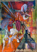 Abstract Composition Paintings - Acetabulofemoral Architecture by Cathal Lindsay
