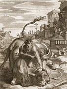 Achelous In The Shape Of A Bull Print by Bernard Picart