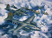 Warbird Mixed Media - Achtung Zweimots by Randy Green