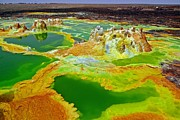 Acid Lakes Of Dallol Volcano Print by Liudmila Di