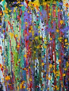 Drip Paintings - Acid Rain by Everette McMahan jr