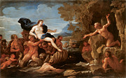Luca Framed Prints - Acis and Galatea Framed Print by Luca Giordano