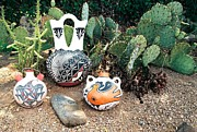 Water Jug Originals - Acoma Pottery  by Dan Vallo
