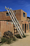 Pueblo Posters - Acoma Pueblo Adobe Homes 3 Poster by Mike McGlothlen