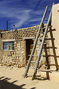 Southwest Digital Art Prints - Acoma Pueblo Adobe Homes 4 Print by Mike McGlothlen