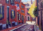 Acorn Paintings - Acorn Street by Dianne Panarelli Miller