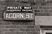 Jerry Fornarotto - Acorn Street Sign bw
