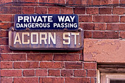 Jerry Fornarotto - Acorn Street Sign