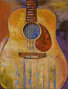 Guitare Posters - Acoustic Guitar Poster by Michael Creese