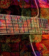 Pickin Digital Art Prints - Acoustic Palette Digital Guitar Art by Steven Langston Print by Steven Lebron Langston