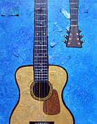 Acoustic Guitar Painting Originals - Acoustic by Tina McCurdy