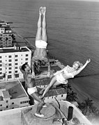 Trio Photos - Acrobatic Trio by Underwood Archives