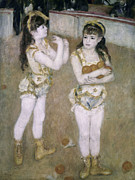 Performers Paintings - Acrobats at the Cirque Fernand by Pierre Auguste Renoir