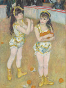 Famous Artists - Acrobats at the Cirque Fernando.Francisca and Angelina Wartenberg. by Pierre-Auguste Renoir
