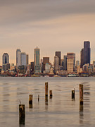 Seattle Waterfront Framed Prints - Across Elliott Bay Framed Print by Dan Mihai