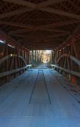 Parke Prints - Across the Bridge and Through the Woods Print by Thomas Sellberg