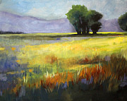 Across The Field Print by Nancy Merkle