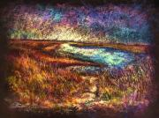 New Jersey Pastels Originals - Across The Point SH by Peter R Davidson