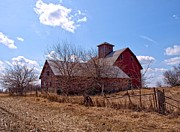Illinois Barns Photo Prints - Across The Sky Print by Tom Druin