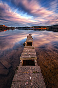 Scotland Landscape Prints Prints - Across The Water Print by John Farnan