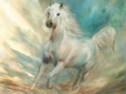 Spirit Horse Prints - Across The Windswept Sky Print by Carol Cavalaris